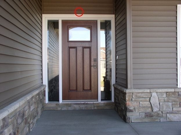 Image result for نصب دوربین مداربسته مخفی در درب ورودی