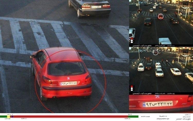 دوربین مدار بسته کنترل ترافیک