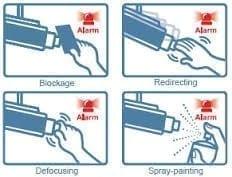 فعال کردن هشدار در هنگام دستکاری دوربین