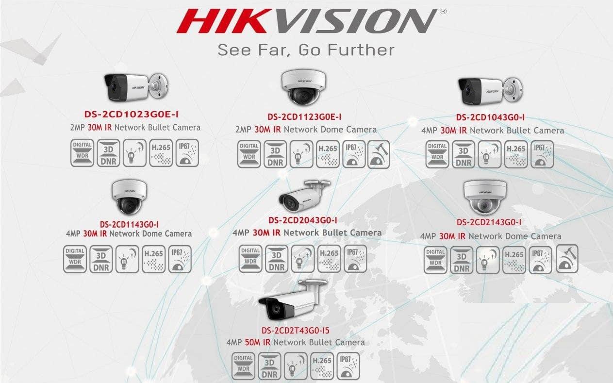 پرفروش ترین دوربین های مداربسته تحت شبکه هایک ویژن
